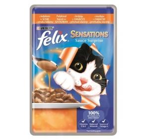 Felix cat kaps.-Sensations Sauce Surprise s krůtou 100 g