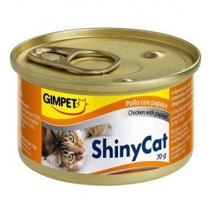 Gimpet Shiny cat konz. - kuře, papája 70 g