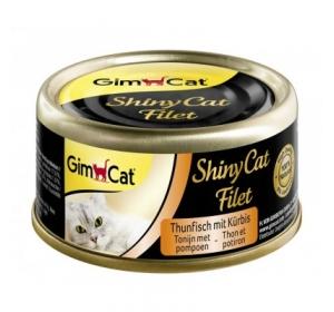 Gimpet Shiny cat konz. - tuňák, kreveta, maltóza 70 g
