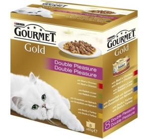 Gourmet Gold cat konz.-gril.k. Mix Multipack 7 + 1 ks x 85 g