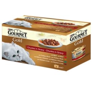 Gourmet Gold cat konz.-k.masa ve šťávě Multipack 4 x 85 g