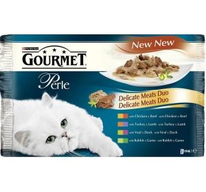 Gourmet Perle cat kaps.- DUO Multipack maso 4 x 85 g