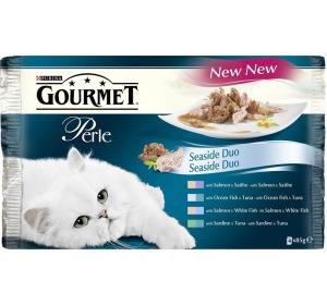 Gourmet Perle cat kaps.- DUO Multipack ryba 4 x 85 g