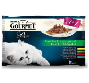 Gourmet Perle cat kaps.- Multipack filety se zel. 4 x 85 g
