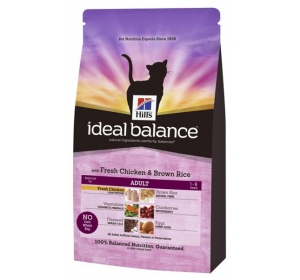 Hill's Feline Ideal Balance Adult Chicken&Brown Rice 4 kg