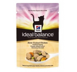 Hill's Feline Ideal Balance kaps. Adult Chicken&Vegetable 85 g