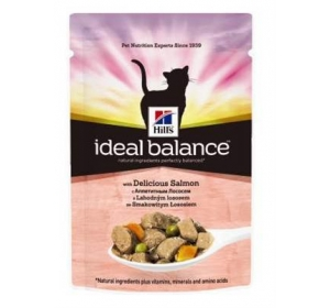 Hill's Feline Ideal Balance kaps. Adult Salmon&Vegetable 85 g