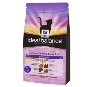 Hill's Feline Ideal Balance Mature Chicken&Brown Rice 300 g