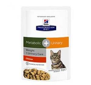 Hill's Feline Metabolic + Urinary Dry 85 g Výprodej expirace 2/2017