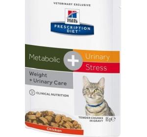 Hill's Feline Metabolic + Urinary Stress kapsička 85 g