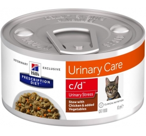 Hill's PD Feline Stew c/d Urinary Stress with Chicken & Vegetables konzerva 82 g
