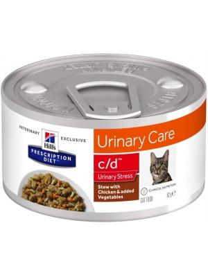 Hill's PD Feline Stew c/d Urinary Stress with Chicken & Vegetables konzerva 82 g
