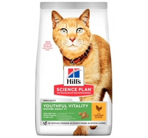 Hill's Science Plan Feline Adult 7+ Youthful Vitality Chicken 1,5 kg