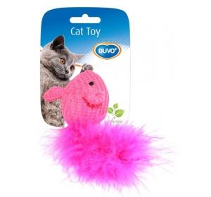 Hračka cat bavlna Myš s ocáskem Duvo+ 10 x 6 x 4 cm