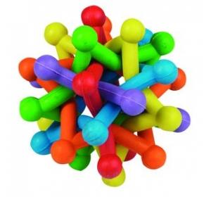 Hračka gumová ATOM barevný 10cm