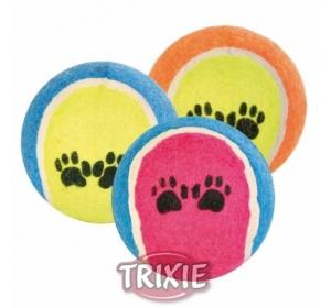 Hračka pes Míč tenisový s tlapkou Trixie