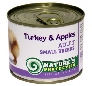 Nature's Protection Dog konzerva Adult Small Breeds Turkey&Apples 200 g