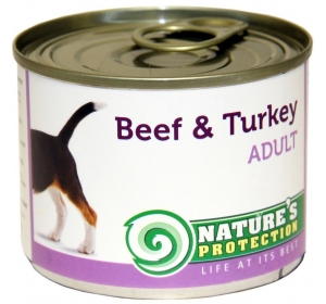 Nature's Protection Dog konzerva Adult Beef&Turkey 200 g