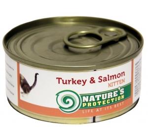 Nature's Protection Cat konzerva Kitten Turkey&Salmon 100 g