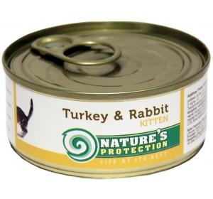 Nature's Protection Cat konzerva Kitten Turkey&Rabbit 100 g