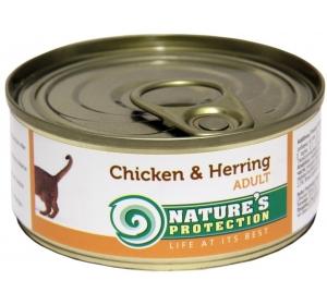 Nature's Protection Cat konzerva Chicken&Herring 100 g
