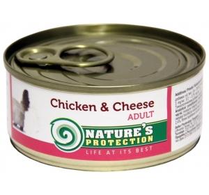 Nature's Protection Cat konzerva Chicken&Cheese 100 g