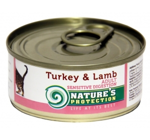 Nature's Protection Cat konzerva Sensitive Digestion Turkey&Lamb 100 g