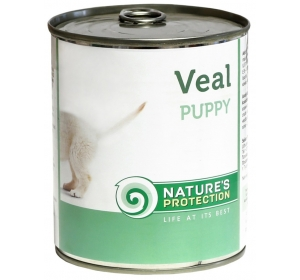 Nature's Protection Dog konzerva Puppy Veal 400 g