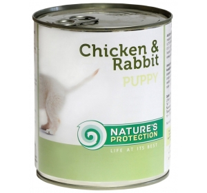 Nature's Protection Dog konzerva Puppy Chicken&Rabbit 400 g