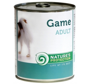 Nature's Protection Dog konzerva Adult Game - zvěřina 400 g