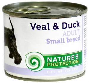 Nature's Protection Dog konzerva Adult Small Breeds Veal&Duck 200 g