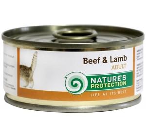 Nature's Protection Cat konzerva Beef&Lamb 100 g