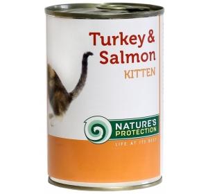Nature's Protection Cat konzerva Kitten Turkey&Salmon 400 g