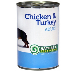Nature's Protection Dog konzerva Adult Chicken&Turkey 400 g
