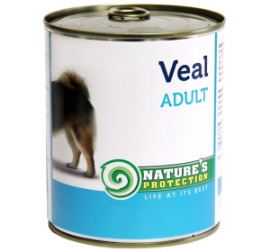 Nature's Protection Dog konzerva Adult Veal 800 g