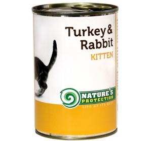 Nature's Protection Cat konzerva Kitten Turkey&Rabitt 400 g