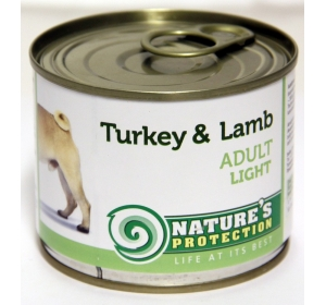 Nature's Protection Dog konzerva Adult Light Turkey&Lamb 200 g