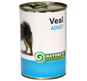 Nature's Protection Dog konzerva Adult Veal 400 g