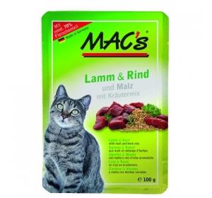 Kaps. MACs Cat Jehně, Hovězí a Slad 100g