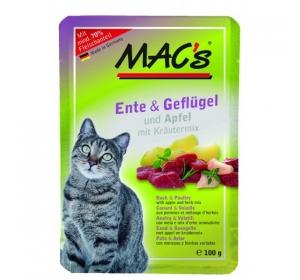 Kaps. MACs Cat Kachna, Drůbež a Jablko 100g