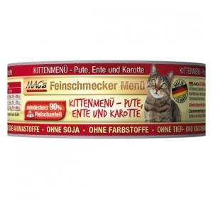 Konz. MACs Cat Fajnšmekr Koťata - Kachna a Mrkev 100g
