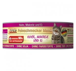 Konz. MACs Cat Fajnšmekr Kuře a Makrela 6x100g