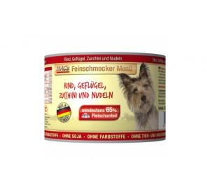 Konz. MACs Dog Fajnšmekr Hovězí, Drůbeží, Cuketa a těstoviny 200g