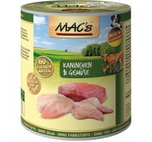 Konz. MACs Dog Králík a Zelenina 400g