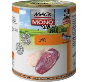 Konz. MACs Dog Mono Sensitive Kachna 400g