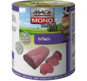 Konz. MACs Dog Mono Sensitive Zvěřina 400g