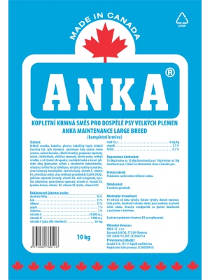 Anka Maintenance Large Breed 10 kg