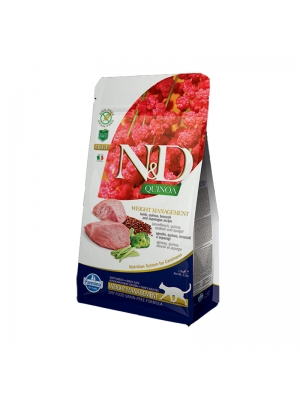 N&D Grain Free Cat Adult Quinoa Weight Managment Lamb & Broccoli 1,5 kg