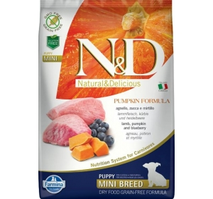 N&D Grain Free Dog Puppy Mini Pumpkin Lamb & Blueb 7 kg