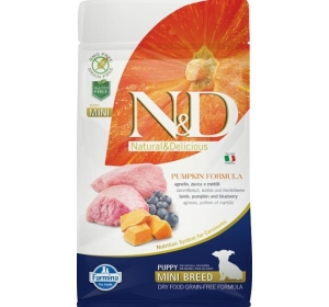 N&D Grain Free Dog Puppy Mini Pumpkin Lamb & Blueb 800 g